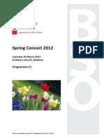Concert Programme Spring 2012 DRAFT