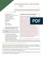 Consignas de Investigación ciudadanía y política