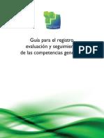 Guia para el registro, evaluación y seguimiento de las competencias genéricas