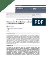 Biomecanica de Las Lesiones Articulares en El Entrenamiento Con Pesos