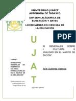 """Lectura 1 """"CONCEPTOS GENERALES SOBRE DIVERSIDAD CULTURAL E INTERCULTURALIDAD EN EL MARCO DE LA GLOBALIZACIÓN"""""""