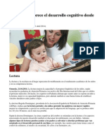 La lectura favorece el desarrollo cognitivo desde la infancia