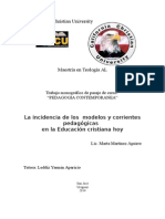 La Incidencia de Los Modelos y Corrientes Pedagógicas