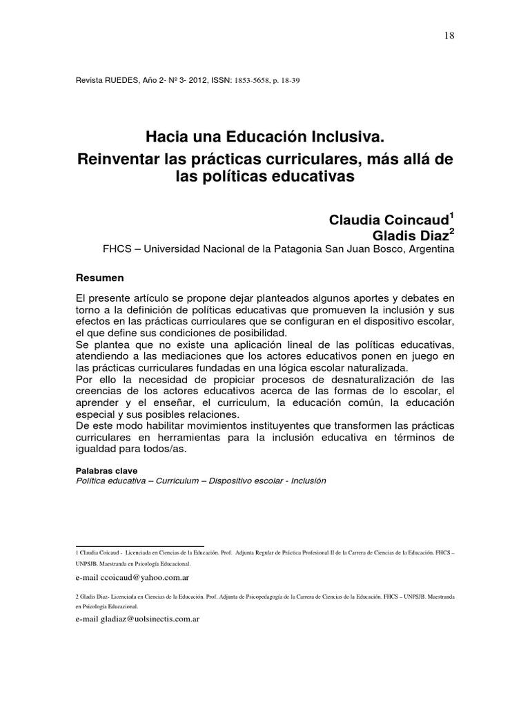 Hacia Una Educación Inclusiva