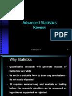 Advanced Statistics Review