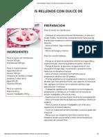 Marshmallows Rellenos Con Dulce de Frambuesa en Elgourmet