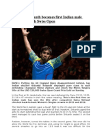16-03-15 Kidambi Srikanth Becomes First Indian Male Player to Clinch Swiss Open