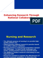 Enhancing Research by National Collaboration