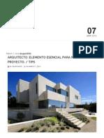 Arquitecto_ Elemento Esencial Para Nuestro Proyecto