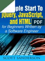 JQuery, JavaScript, And HTML5 - Scott Sanderson