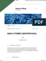 Bab 2 Pompa Sentrifugal