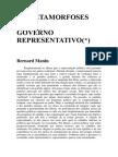 As Metamorfoses Do Governo Representativo