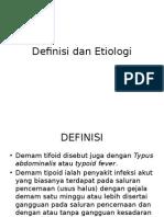 Definisi Demam Typhoid