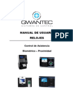 Manual reloj Control