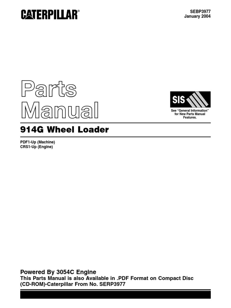 Caterpillar 914G Parts Manual