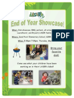End of Year Showcase Flyer