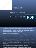 Business vs Military Strategy