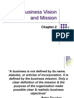 The Business Vision and Mission