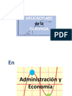 Aplicaciones de La Derivada en Administración y Economia