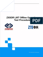 ZXSDR LMT Offline Operation Test Procedure