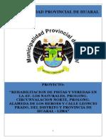 PIP Rehabilitacion de Pistas Huaral