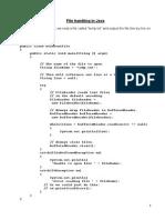 File Handeling Java