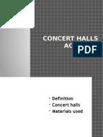 Concert Halls Acoustic Design