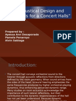 Concert Halls by Group 5
