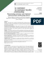 the Customer Satisfaction-customer Loyalty Relationship