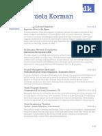 DKorman CV - Web Friendly 2015