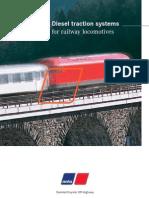 MTU diesel engines for locomotives