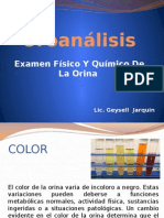 Uroanalis Examen Fisico y Qx de La Orina Clase II