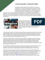 Book Gratis, De que forma Aprender A Aprender Ingles
