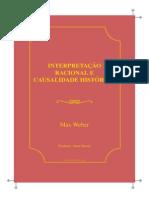 Interpretação Racional e Causalidade Histórica_Max Weber