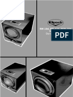 Klipsch RW 10d Subwoofer Manual