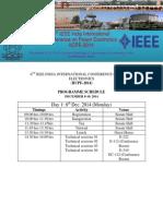 IICPE Schedule