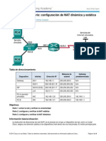 11.2.2.6 Lab - Configurando NAT Estatica y Dinamica