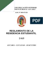 Reglamento de Residencia Estudiantil 2015