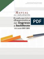 Evaluación Diagnóstica Ingreso a Bachillerato E