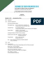 y4u 2015 agenda