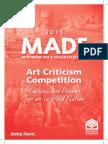 2015 Art Criticism Entry Form