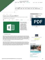 Como usar a função PROCV _ INFO do Excel