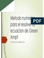Ecuacion de Greenampt