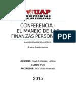 El Manejo de Las Finanzas Personales