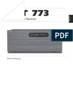 T 773 AV Surround Sound Receiver - English Manual