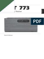 T 773 AV Surround Sound Receiver - English Manual
