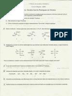 organica quimica 1 prova organic chemistry exam