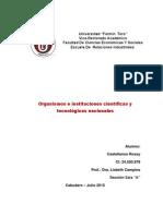Organismos y Ministerios de La Ciencia y la Tecnología