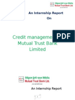 Internship Report on Credit Management of MTBL