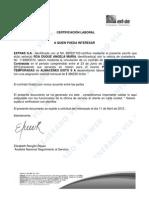 Carta Laboral Eficacia
